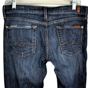 7 For All Mankind 29 Bootcut Jeans Distressed Blue